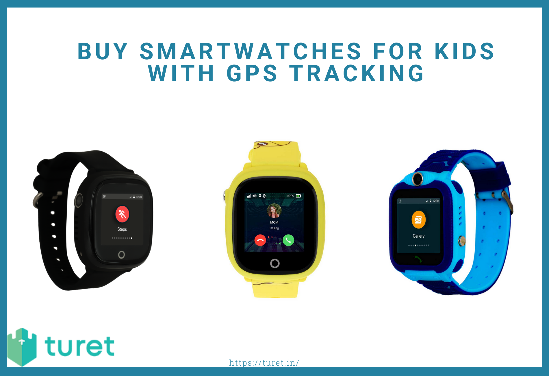Smartwatches for kids with GPS tracking